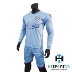 áo Dài Tay Man City Xanh