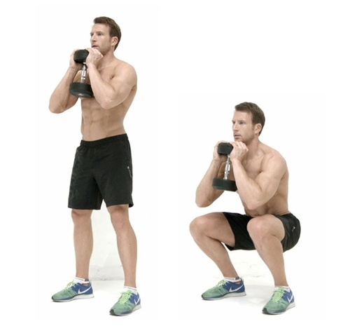 Goblet squat thao tác chuẩn