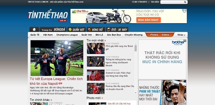 Tinthethao.com.vn cũng là một gợi ý khi muốn tham khảo