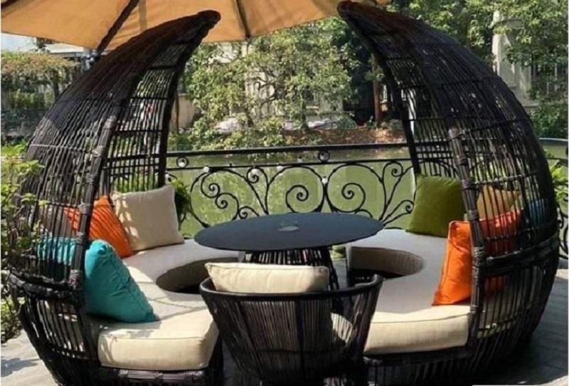 10 mẫu ghế hồ bơi ngoài trời- Ghế nhựa hình trái cam